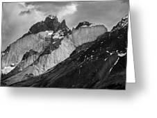 Patagonian Mountains Greeting Card