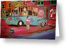 Patates Frites...chip Wagon Greeting Card by Michael Litvack