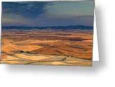 Patched Palouse Greeting Card
