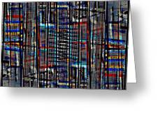 Patchwork Architecture 2 Greeting Card