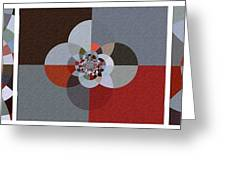 Patchwork Craze - Abstract - Triptych Greeting Card