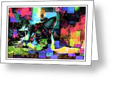 Patchwork Kitty Greeting Card