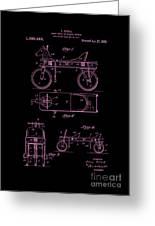 Patent Art 1920 Herzog Hobby Horse Pink Greeting Card