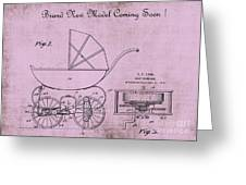 Patent Art Baby Carriage 1920 Lark Invite 4 Greeting Card