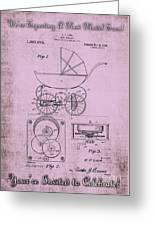 Patent Art Baby Carriage 1920 Lark Invite IIi Greeting Card