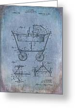 Patent Art Baby Carriage 1922 Mahr Denim Greeting Card