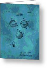 Patent Art Golf Ball Greeting Card