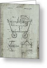 Patent Art Mahr Baby Carriage 1922 Green Greeting Card