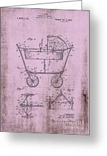 Patent Art Mahr Baby Carriage 1922 Pink Greeting Card