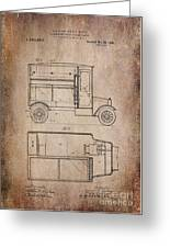 Patent Art Refrigerator Truck I Antique Greeting Card