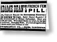 Patent Medicine, C1880 Greeting Card