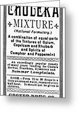 Patent Medicine: Opium Greeting Card