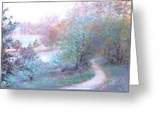 Path By The River Greeting Card