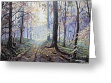 Path In The Woods Greeting Card by Andrei Attila Mezei
