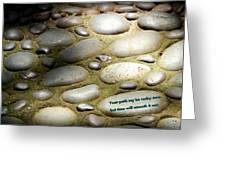 Path Of Pebbles  Greeting Card