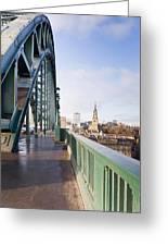 Path On Tyne Bridge Greeting Card