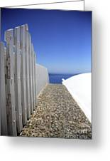 Path Out To Sea Greeting Card
