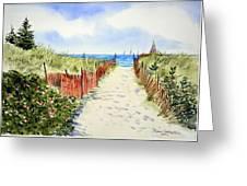 Path To East Beach-watch Hill Ri Greeting Card