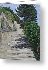 Path To L'eremo Sul Mare Greeting Card