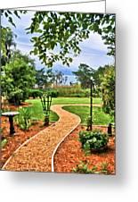 Garden Path To Wild Marsh Greeting Card