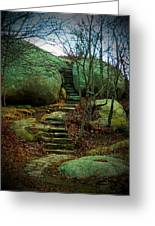 Path To Munchkinville Greeting Card by Marcia Lee Jones