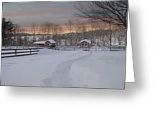 Path To The Barn Greeting Card