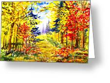 Path To The Fall Greeting Card