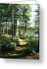 Path To The Lake Greeting Card