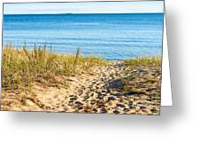 Path To The Lake Superior Beach Greeting Card