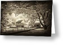 Path To The Old Barn Greeting Card