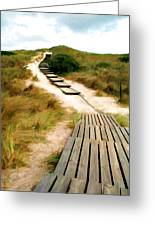 Path To The Sea Greeting Card