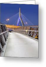 Path To The Zakim Bridge Greeting Card