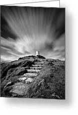 Path To Twr Mawr Lighthouse Greeting Card