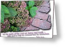 Paths Of The Lord Greeting Card