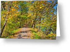 Pathway Along The Ohio And Erie Canal  Greeting Card