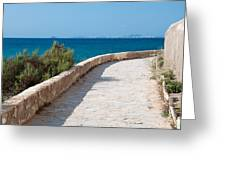 Pathway By The Sea Greeting Card