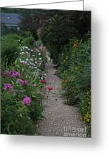 Pathway Of Monet's Garden Greeting Card