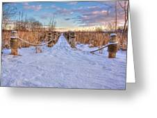 Pathway To Crooked Lake Greeting Card by Jenny Ellen Photography