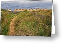 Pathway To The Cabanas Greeting Card