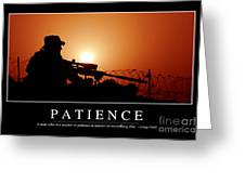 Patience Inspirational Quote Greeting Card by Stocktrek Images