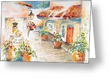 Patio De Las Campanas  Greeting Card