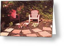 Patio Garden Greeting Card
