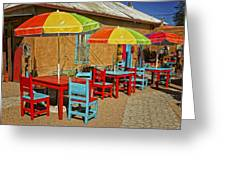 Patio Old Town Albuquerque New Mexico Dsc08203 Greeting Card