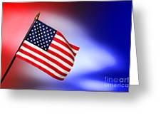 Patriotic American Flag Greeting Card