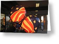 Patriotic Balloons Veteran's Day Casa Grande Arizona 2004 Greeting Card