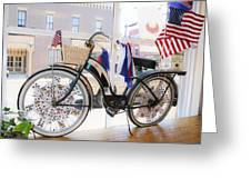 Patriotic Bicycle Greeting Card