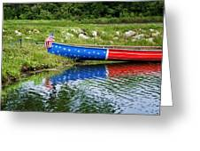 Patriotic Canoe #1 Greeting Card