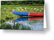 Patriotic Canoe #1 Greeting Card