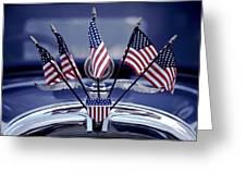 Patriotic Car Greeting Card