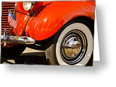 Patriotic Car Greeting Card